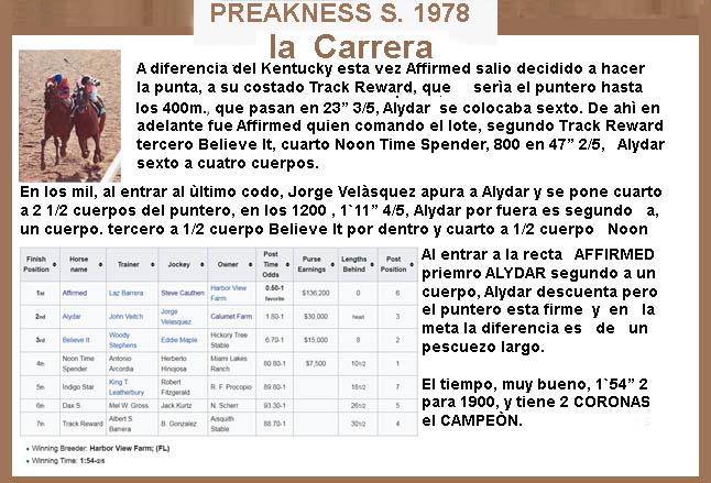 1978 - HACE 40 AÑOS - BELMONT STAKES - AFFIRMED TRIPLE CORONADO 1978-a16
