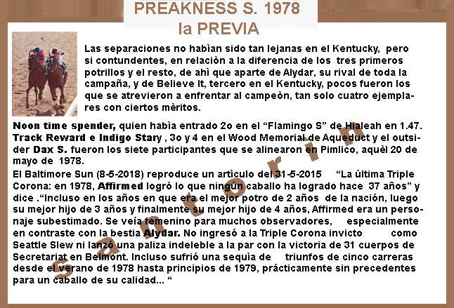 1978 - HACE 40 AÑOS - BELMONT STAKES - AFFIRMED TRIPLE CORONADO 1978-a17