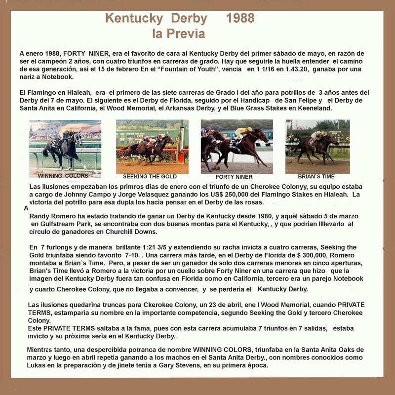1988 - Kentucky Derby  - Hace 30 años  1988_k11