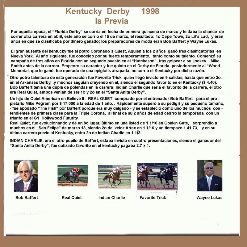 1998 KENTUCKY DERBY - REAL QUIET 1998_k12