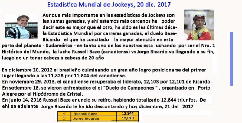 JORGE RICARDO - ESTADISTICA MUNDIAL DE JOCKEYS - Baze - Ricardo 2017-r11