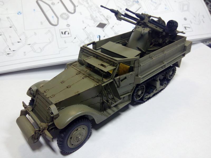 M3 Halftrack w\TCM-20 anti-aircraft gun. Dragon. 1\35 Img_2327