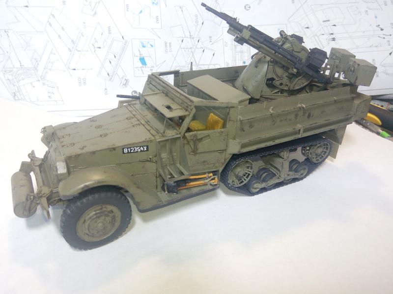M3 Halftrack w\TCM-20 anti-aircraft gun. Dragon. 1\35 Img_2329