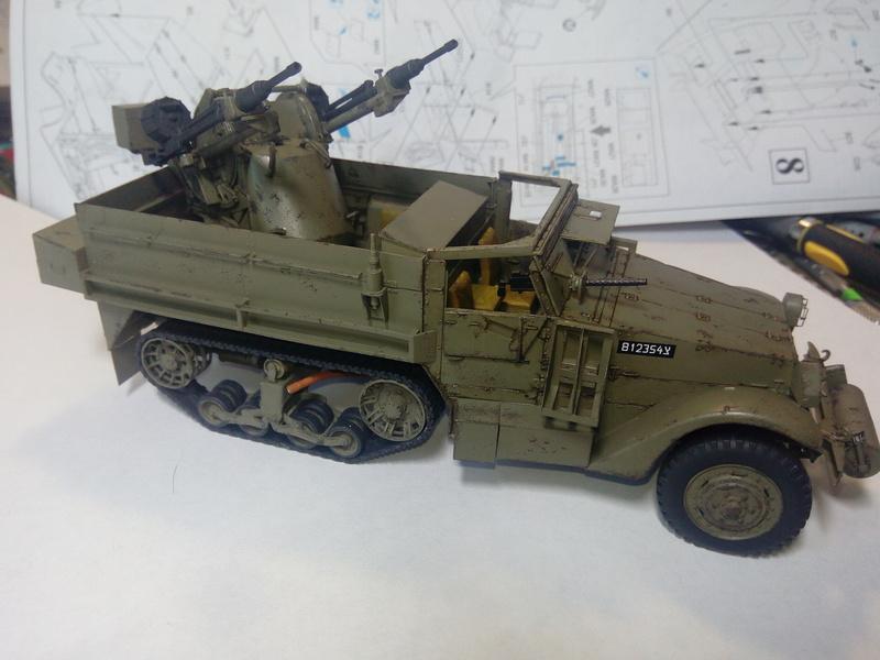 M3 Halftrack w\TCM-20 anti-aircraft gun. Dragon. 1\35 Img_2332
