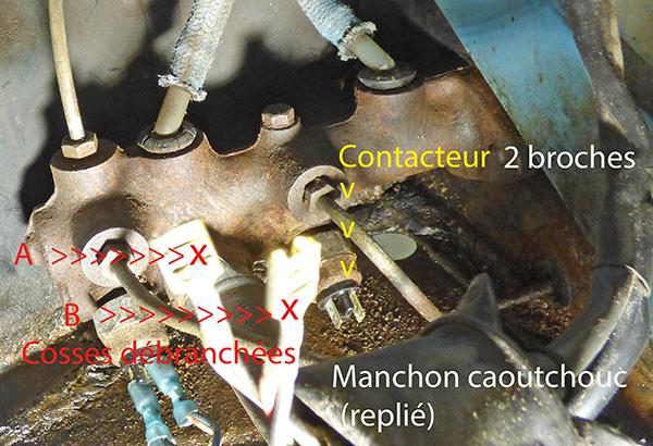 Freins Raccordement contacteurs feux stop du maitre-cylindre Raccor10