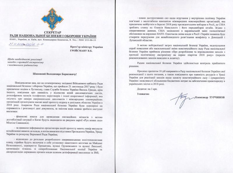 Le conseil de sécurité nationale et de défense de l'Ukraine: les États-Unis préparent des manifestations en Ukraine et en Russie Es_ukr10