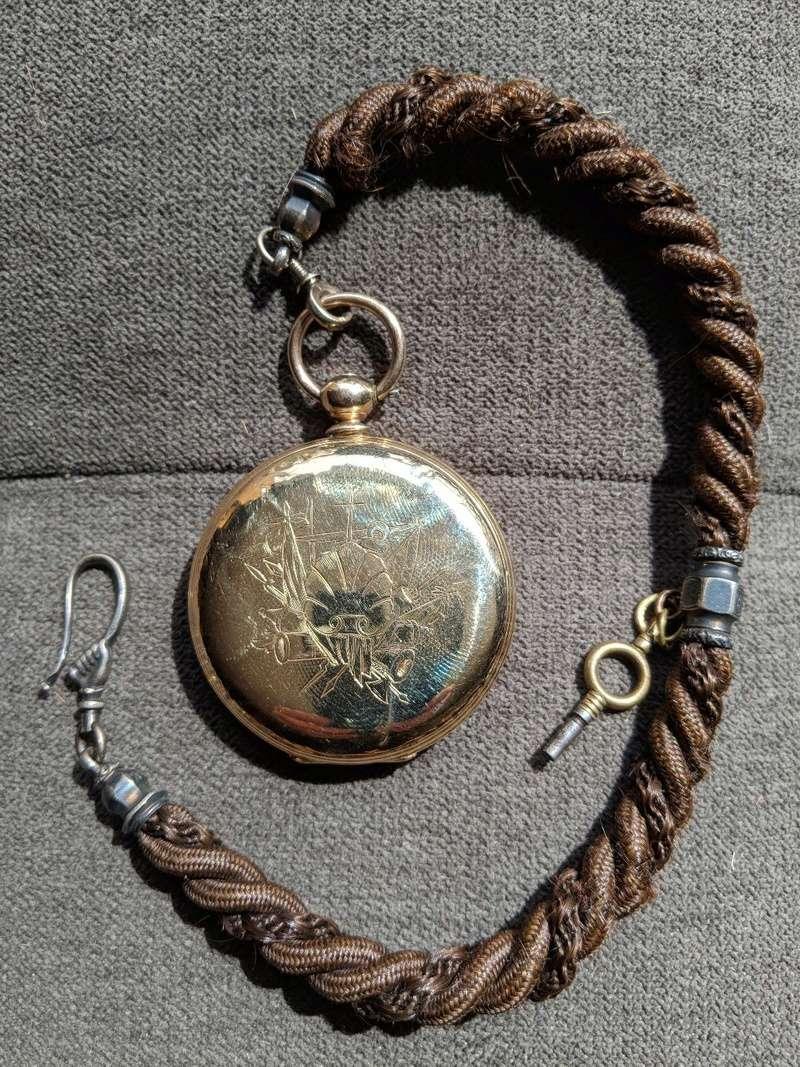 L'art des cordes de montre de poche de cheveux humains Hair_211