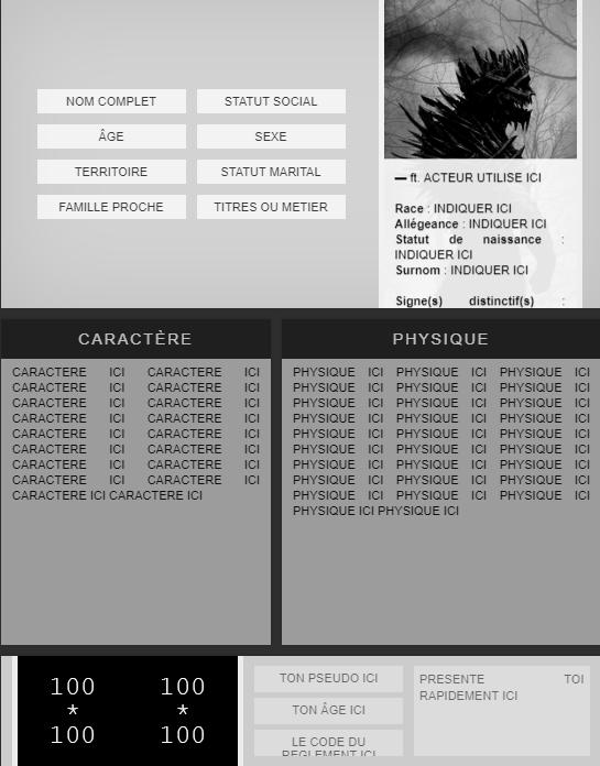 [AIDE] Guide création de personnage Et410