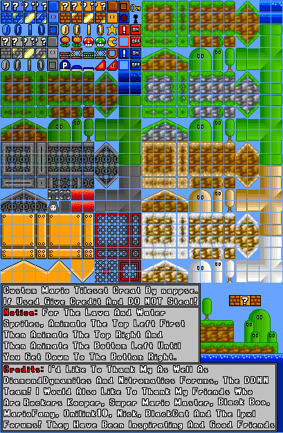 i need some Help with making these tiles 16 bit Non_1611