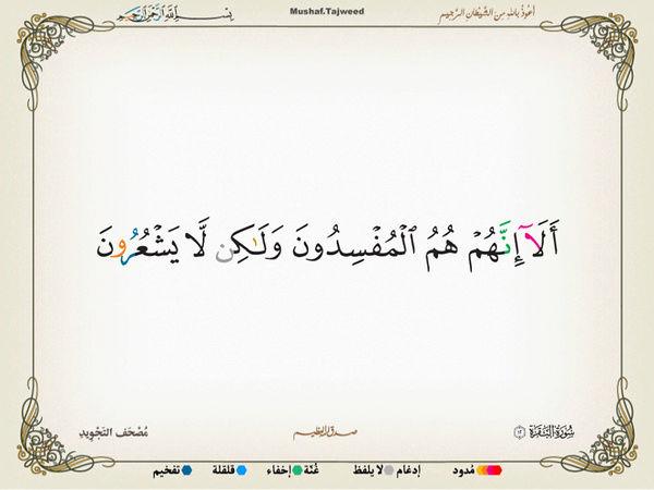 الآية 12 من سورة البقرة الكريمة المباركة Oa_12_10