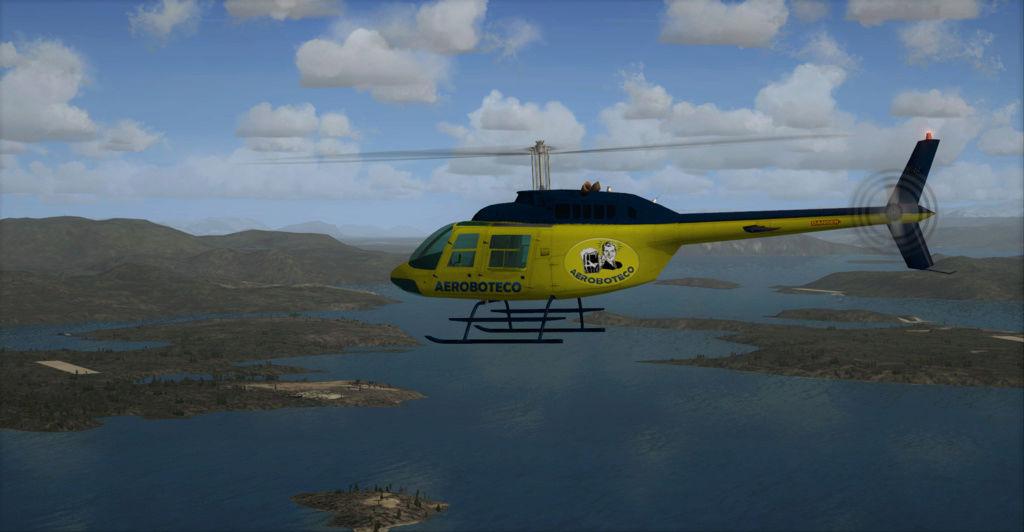 Textura Bell 206B Default FSX Banner15