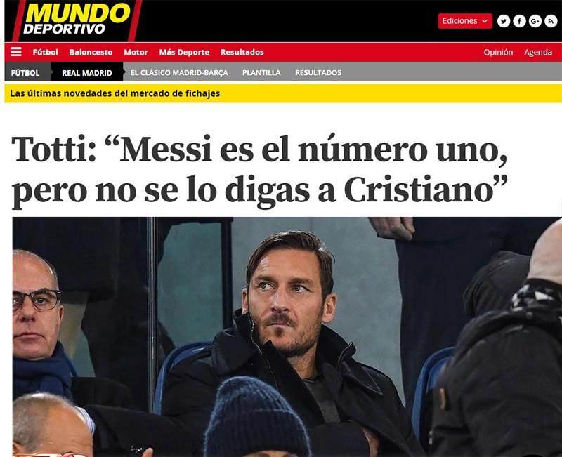 MESSI, EL MEJOR JUGADOR DE LA HISTORIA Totti10