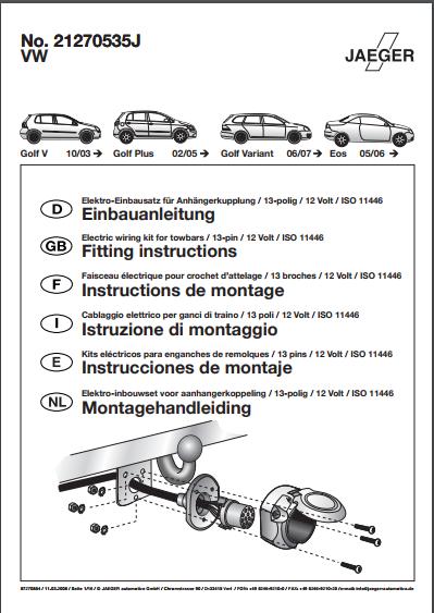 VW attache remorque et faisceau Captur18