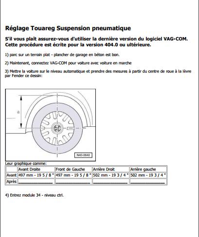 Reglage Suspension pneumatique sur Vag-com pour le Touareg Captur19