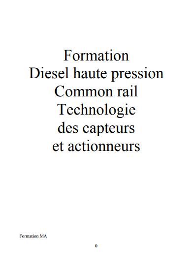 PSA formation diesel haute pression common rail technologie des capteurs et actionneurs Captur25