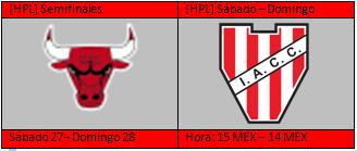 [HPL] Horarios de Semifinales + partido aplazado Semis10