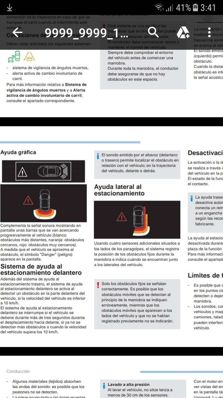 Sensores de aparcamiento delanteros - Página 2 Screen18