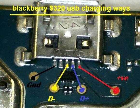 Pistas de carga y Usb Blackberry 9320 Pistas11