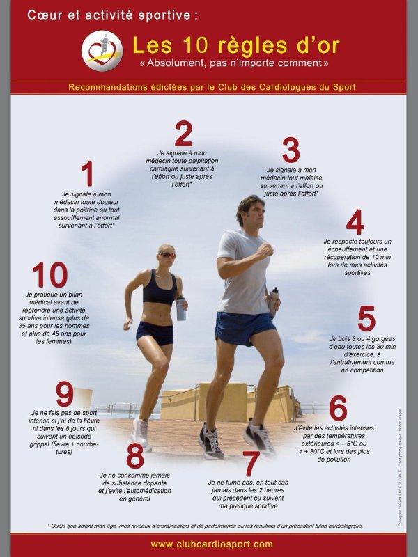 Coeur et Sport - Les 10 régles d'Or Cardio10