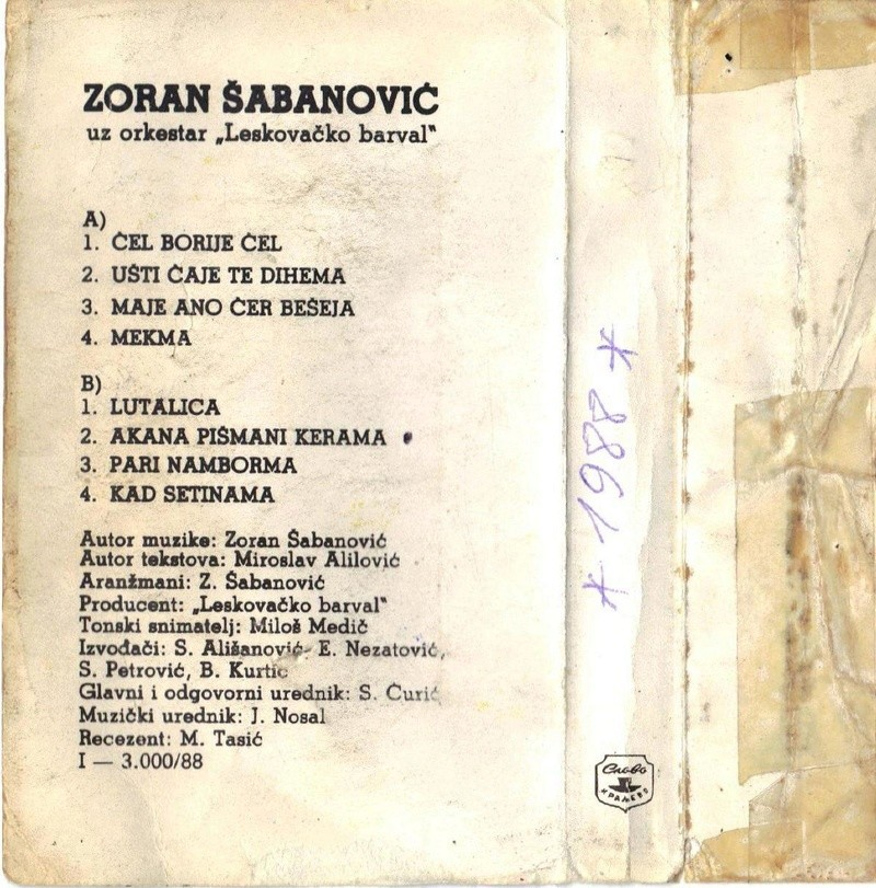 Zoran Šabanović - Omoti 1988-110