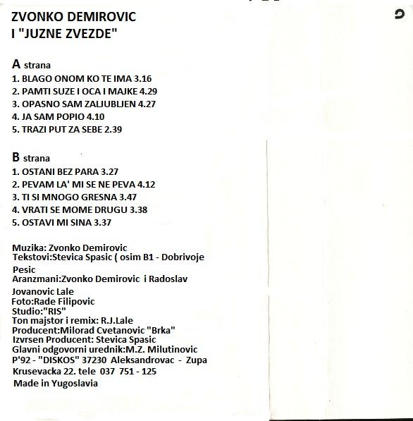 Zvonko Demirovic - Omoti 1992_z11