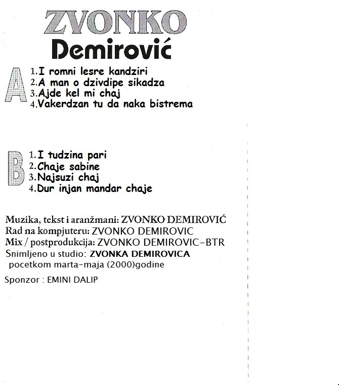 Zvonko Demirovic - Omoti 2000-z10