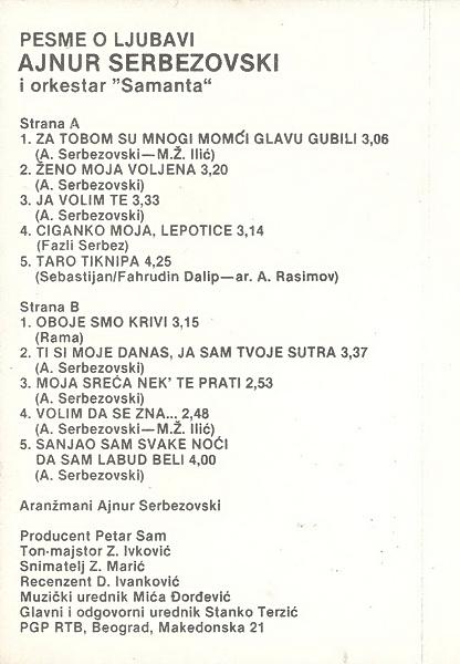 Ajnur Serbezovski - Omoti R-364312