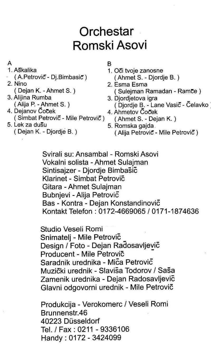 Moji Nišlije Muzičari i Pevači - Omoti Romski11
