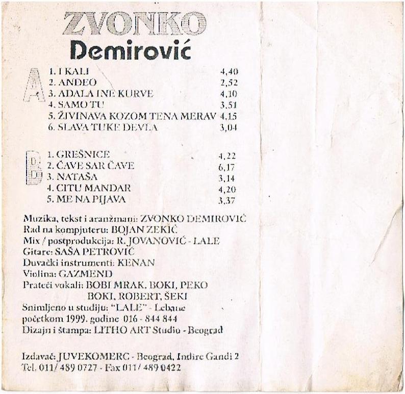 Zvonko Demirovic - Omoti Zadnja18