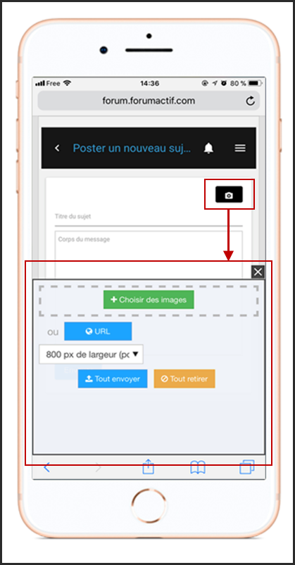 Optimisation de la version mobile moderne des forums 10-01-11