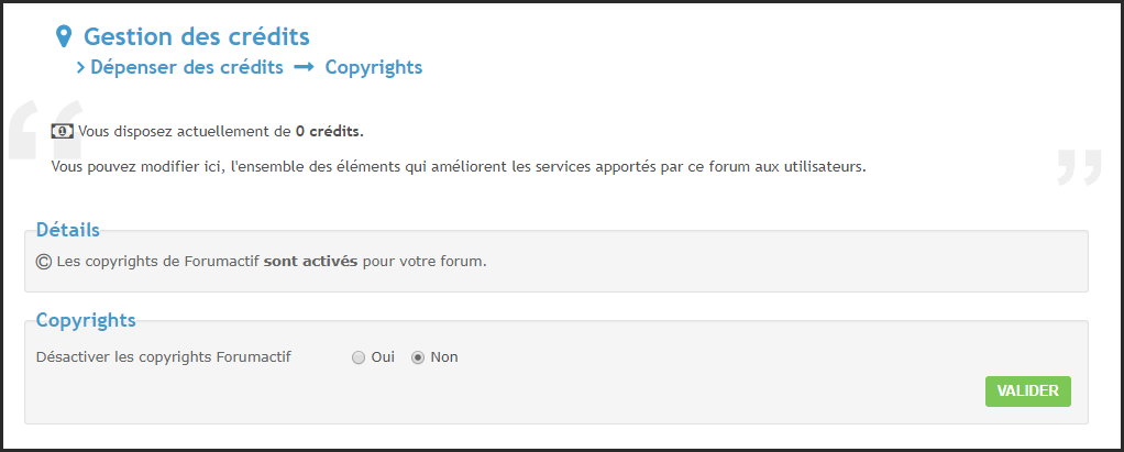 Les mentions obligatoires (copyright) de Forumactif 13-04-20