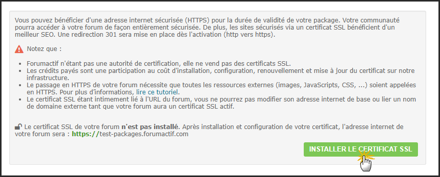 Certificat SSL : Guide d'un passage réussi du forum en HTTPS 18-04-12