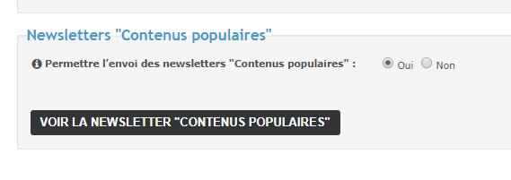 """Nouveau : Newsletters """"Contenus populaires"""" 30-01-11"""
