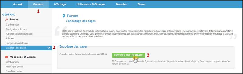 Nouveau : Possibilité d'encoder votre forum intégralement en UTF-8 31-01-13