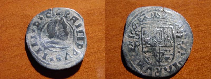 16 Maravedís de Felipe IV, Sevilla 166? P2161910