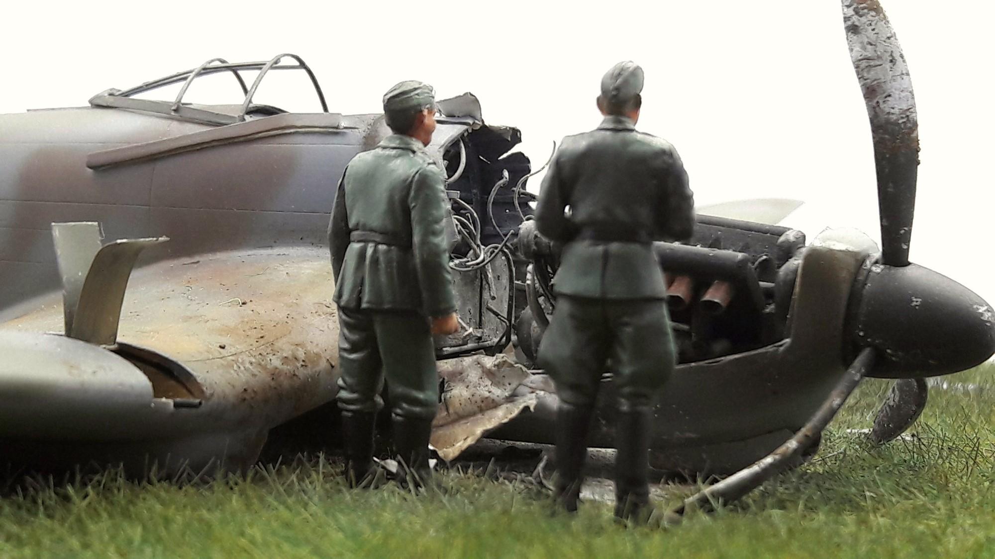 [Concours Aéronavale] Loire Nieuport 401/411 -  Special hobby 1/48 - crash à Villereau -le sacrifice des marins aviateurs du 19 mai 1940 - Mission Berlaimont  Image490
