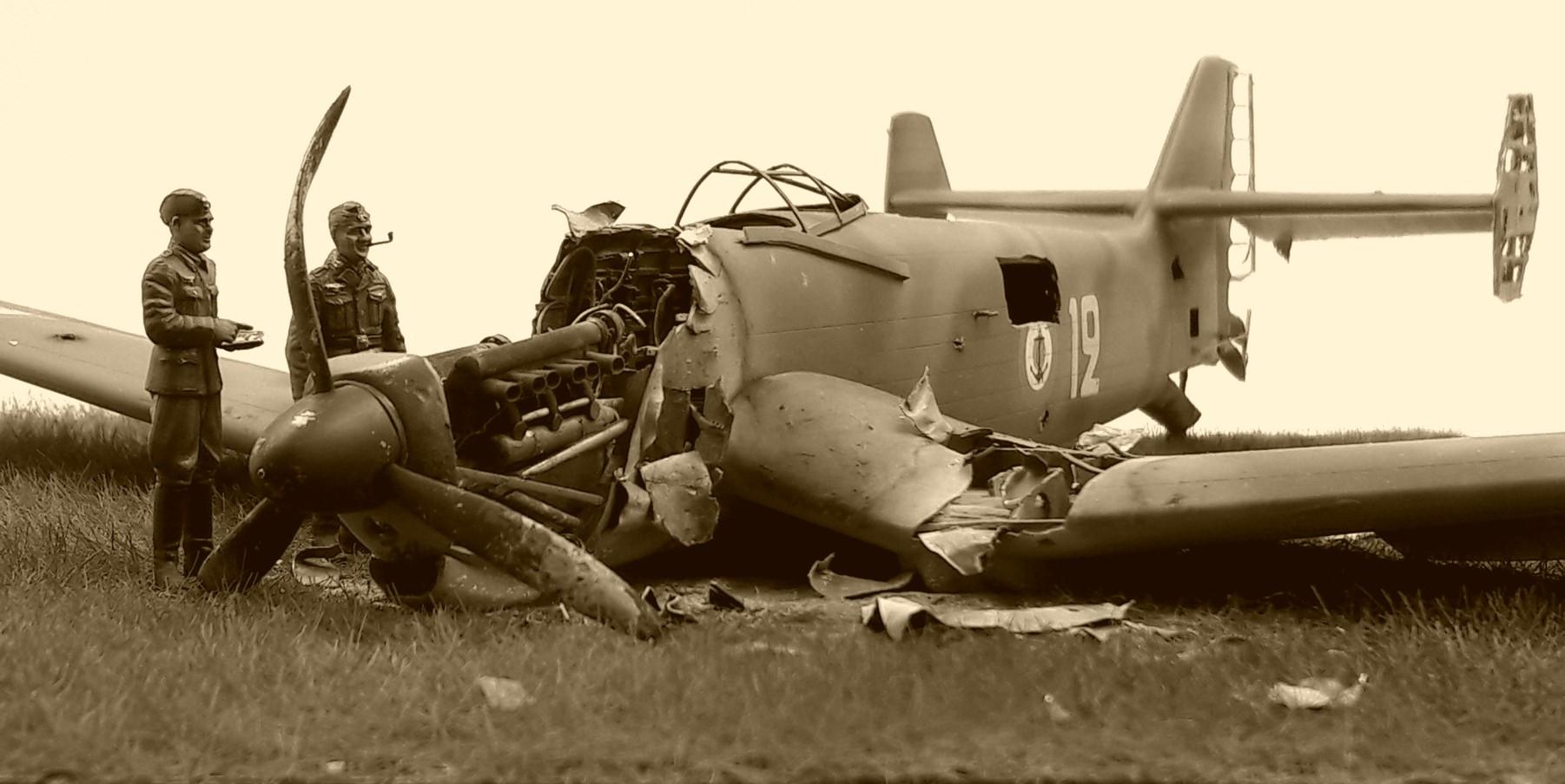 [Concours Aéronavale] Loire Nieuport 401/411 -  Special hobby 1/48 - crash à Villereau -le sacrifice des marins aviateurs du 19 mai 1940 - Mission Berlaimont  Image498