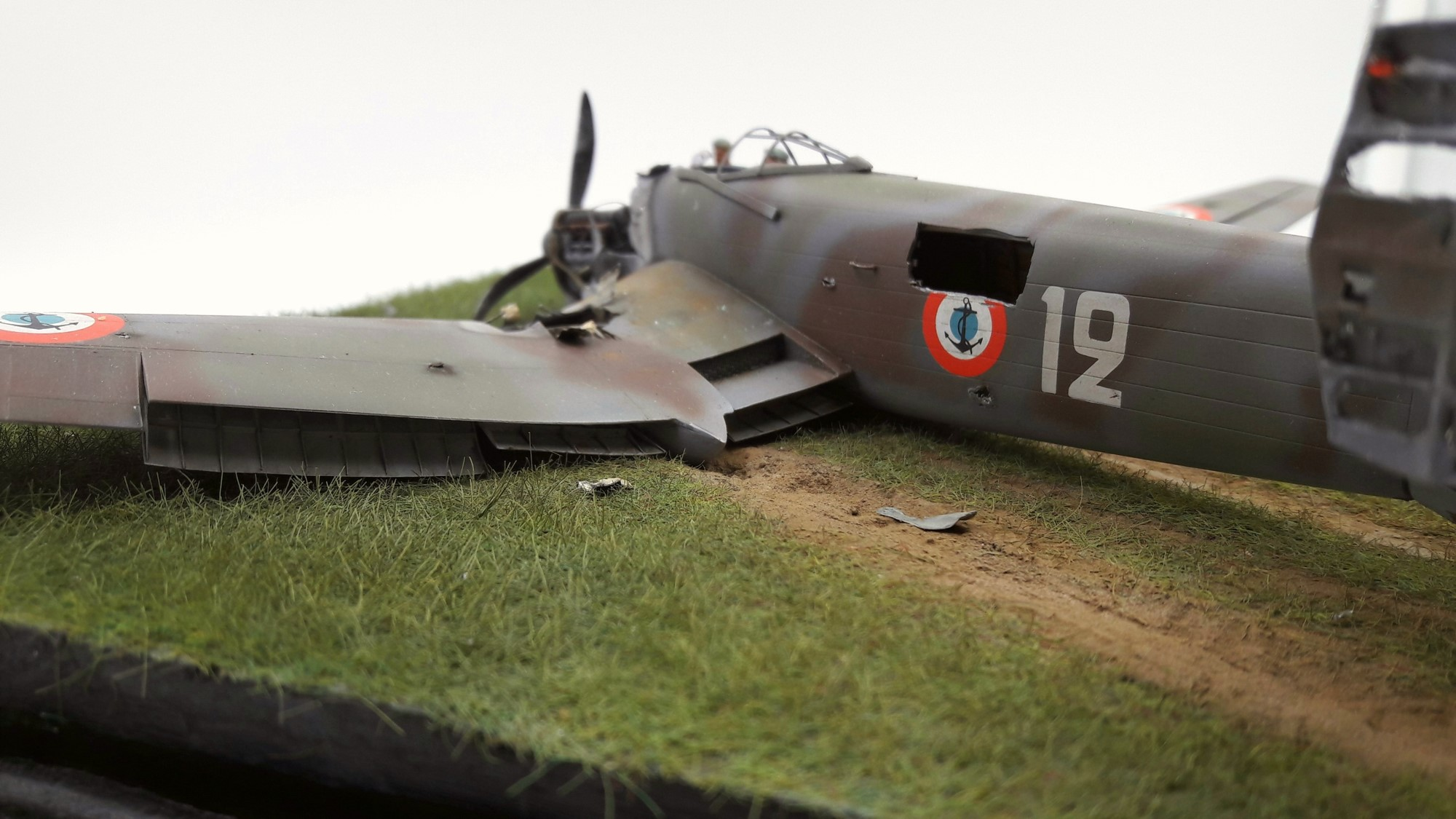 [Concours Aéronavale] Loire Nieuport 401/411 -  Special hobby 1/48 - crash à Villereau -le sacrifice des marins aviateurs du 19 mai 1940 - Mission Berlaimont  Image831