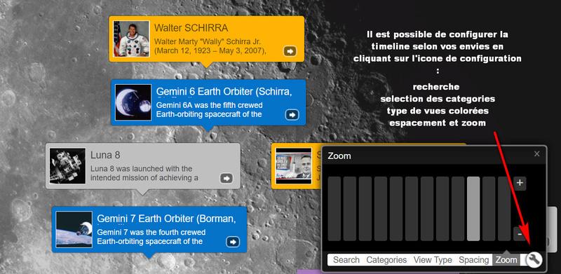Timeline de la conquete de l'espace Zoom10