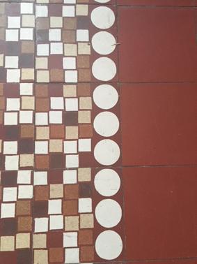 rénovation maison année 30: assortir les couleurs des pièces au carrelage d'époque Carrel11