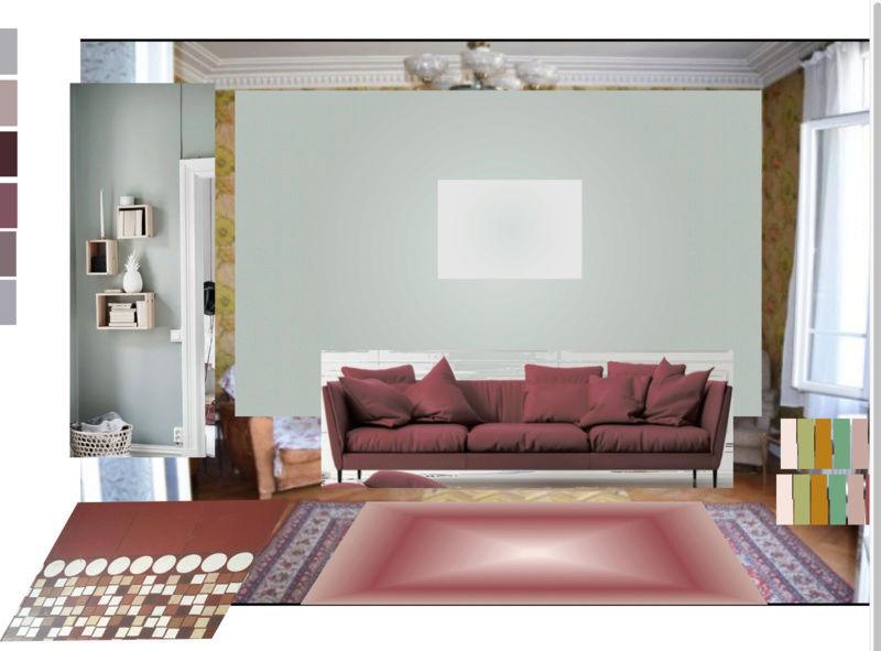 rénovation maison année 30: assortir les couleurs des pièces au carrelage d'époque Essai110