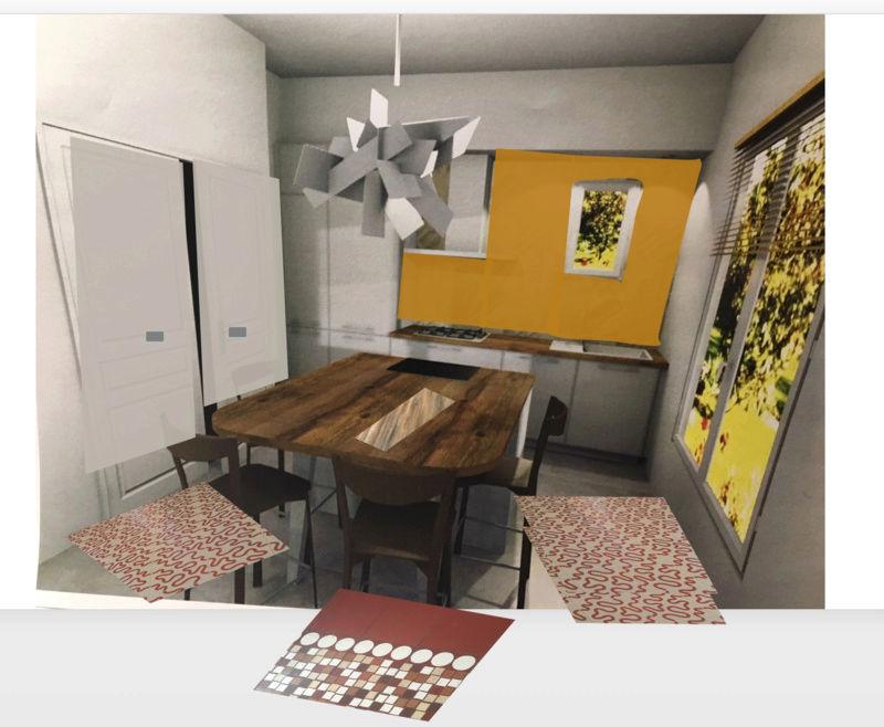 rénovation maison année 30: assortir les couleurs des pièces au carrelage d'époque Essai_11