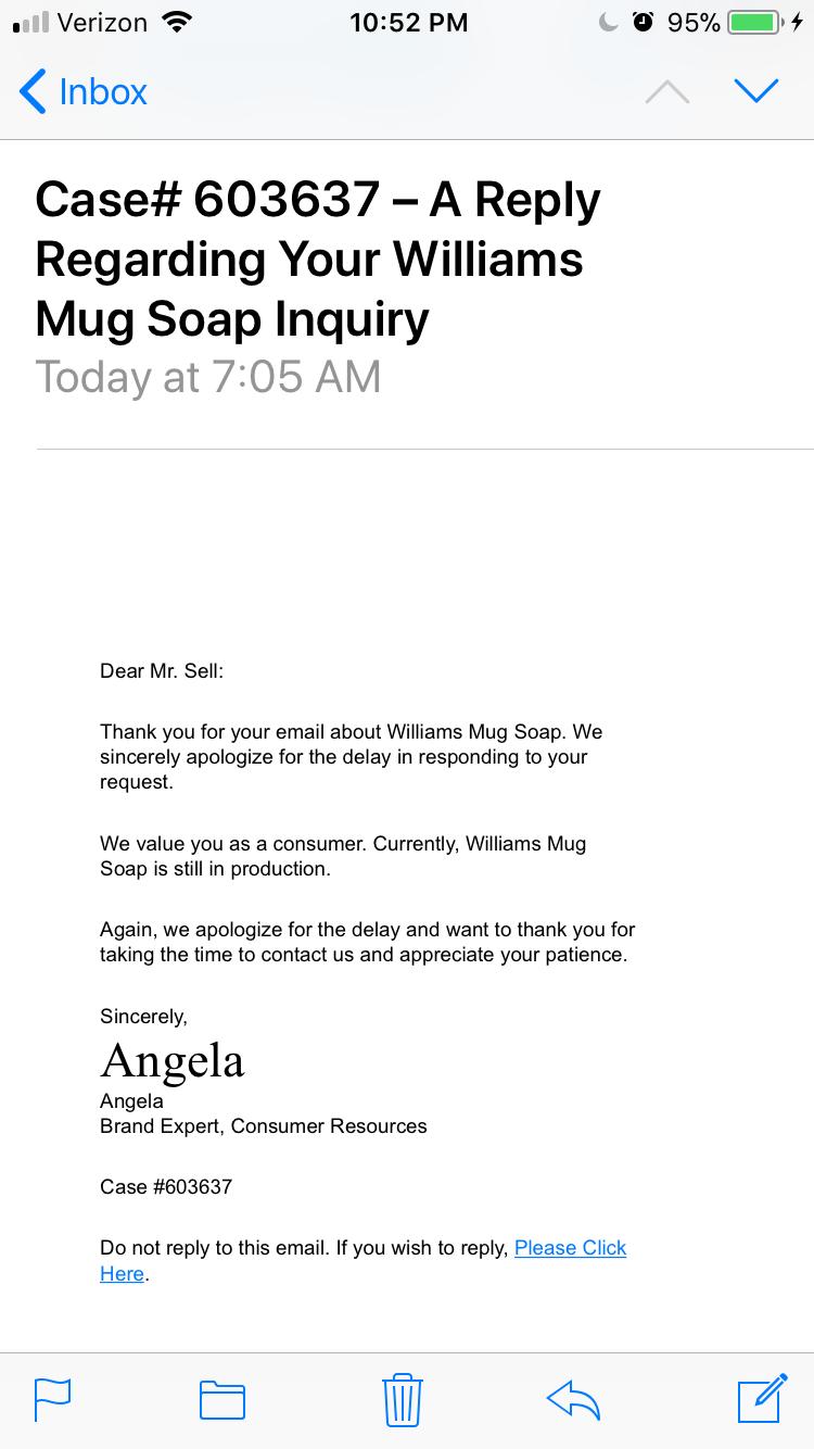 Williams Mug Soap 21786910