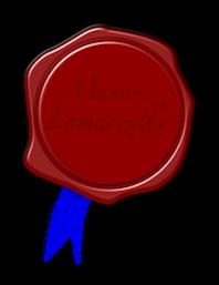 Missive cachetée d'un ruban bleu de la Maison Lamarzelle.  Seal-110