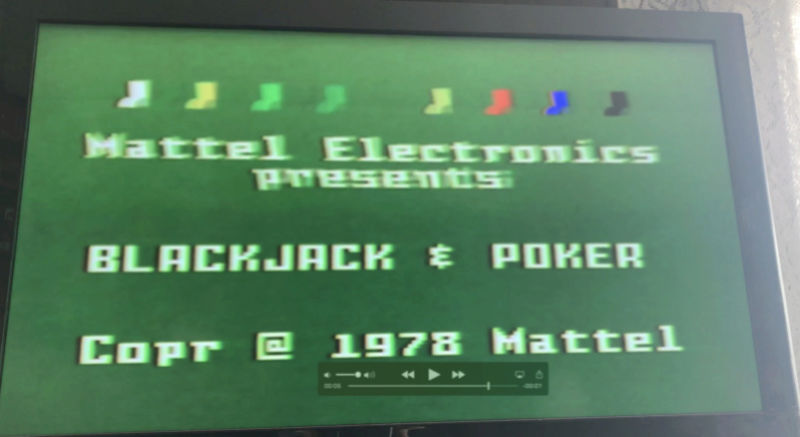 Intellivision top 25% of screen flickers Screen10