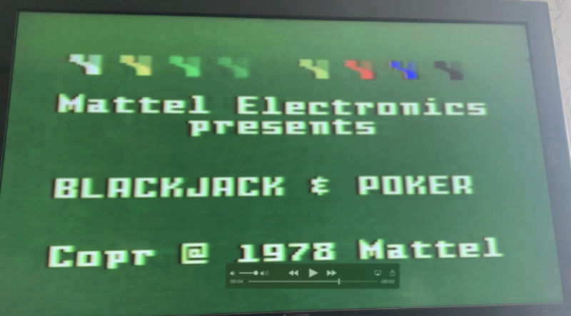 Intellivision top 25% of screen flickers Screen11