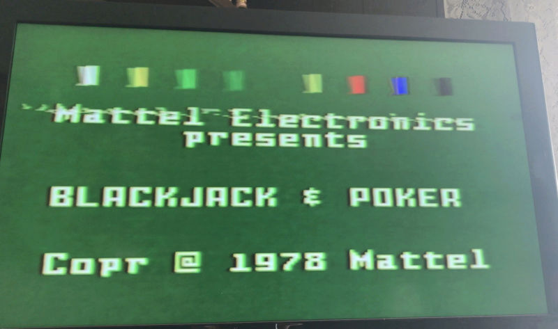 Intellivision top 25% of screen flickers Screen12