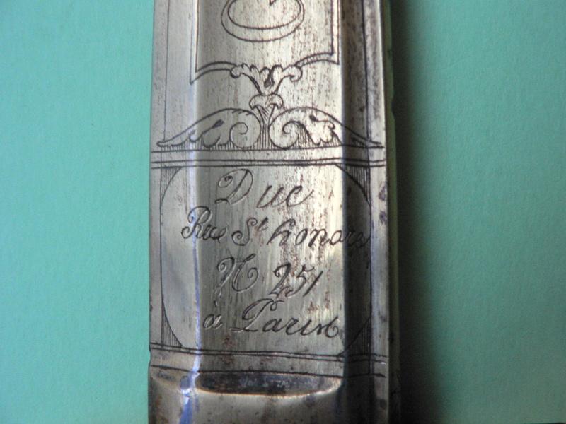 Sabre Gendarmerie Royale 1817 P1210232