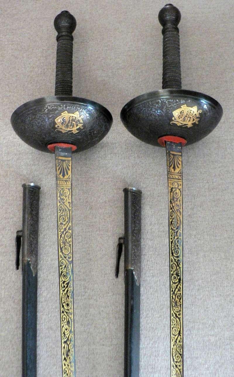 Épées de duel historiques françaises et espagnoles. P1220033