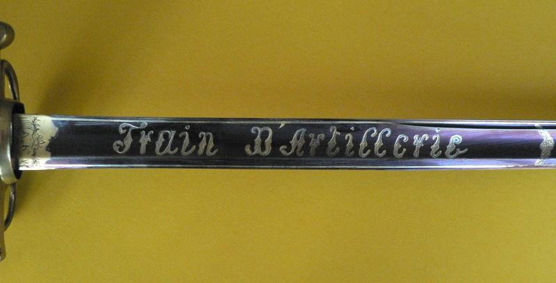 Sabre d'officier Train d'artillerie. P1230012